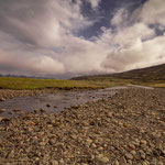 Landschaft am Gebirgspass Öxi