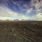 Schwarze Sandwüste
