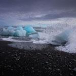 Strand bei der Gletscherlagune Jökulsarlon
