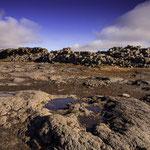 Landschaft mit Lavaformationen