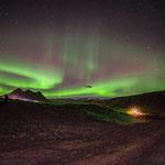 Polarlichter bei Vik