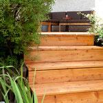Treppen in Lärche für den Außenbereich