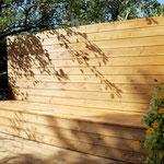 Sitzbank, Aufbewahrung von Gartenutensilien