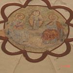 Detailfoto Gewölbebemalung im Vorzustand