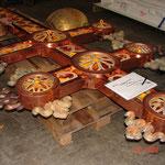 Russisch Orthodoxes Kreuz  Teilweise in Kupfer neu hergestellt