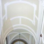 Detailfoto Treppenhaus - Ansetzen Farbmuster