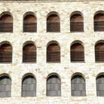 Detailansicht der Ostseite des Turmes im Vorzustand.
