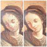 Ergebnis der Gemäldereinigung.