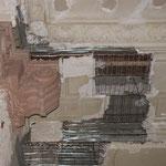 Detailfoto - Ergänzungsbau der fehlenden Armierung