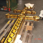 Russisch Orthodoxes Kreuz  Nach der erfolgten Neuvergoldung (Ölgoldtechnik)