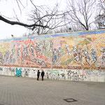 Das Großmosaik im Vorzustand. Aufnahme vom 23.01.2019.