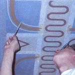 Detailfoto – Rekonstruktion des originalen Ausmalungssystems