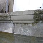 Reprofilierung/Substanzergänzung im Antrageverfahren unter Verwendung von Restaurierungsmörtel.