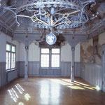 Rathaussaal im Endzustand mit vollständig rekonstruierter ursprünglicher Bemalung