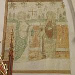 Kleinformatige Retuschierprobe im mittelalterlichen Malereibestand