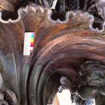 Zwischenfoto – mechanisches Entfernen von Korrosionsschichten.