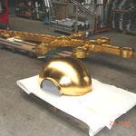 Neuvergoldung Kreuzkugel in Ölgold