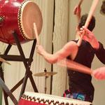 Trommelkonzert bei der Leipziger Kunstmesse 2019