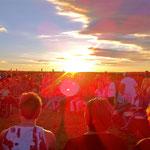 Magische Momente beim Trommelworkshop zur Sommersonnenwende im Sternenobservatorium in Gossek