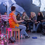 Workshop im Asisi-Panometer / Mount Everest Thema / Sound of Tibet  Foto: Ines Linke