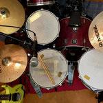 Drumset von oben