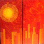Sommersonne in der Großstadt
