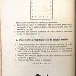 """En el libro """"Nociones de Aritmética y Ejercicio de Cálculo Mental"""" del año 1921, de José María Zabalegui, aparece un sencillo cuadro de Jakson limitado a los seis primeros números"""