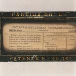 Curioso aparato de enseñanza patentado por Rafael Heredia Rofríguez-Jaén en 1907 con el nombre de 'Aparato Automático de Contabilidad AIDEREH', para enseñanza de Contabilidad Comercial, resumen del libro Calculador Comercial
