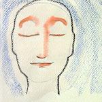 ca.11x18cm. Bleistift, Malwachs, Tinte auf Papier.  2008