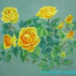 """""""Желтые розы"""". Размер: 30x40 см Материал: Тонированная бумага, пастель Оформление: Нет/по желанию Продается Цена: 5000 руб."""