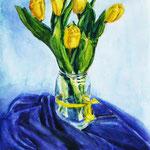 """""""Букет тюльпанов"""". мРазмер: 30x40 см Материал: Тонированная бумага, пастель Оформление: Нет/по желанию Продается Цена: 1000 руб."""