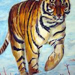"""""""Тигр"""". Размер: 40x60 см Материал: Бумага, акрил Оформление: Нет/по желанию Продается Цена: 5000 руб."""