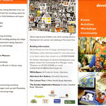 Flyer zu den Workshops at Whitespace und Aberdeen Art Gallery
