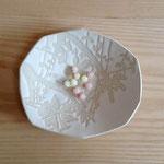 蔓草のお皿 約16×15cm