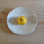 カボチャの葉のお皿 約16×15cm