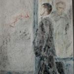 o.T., Mischtechnik auf Leinwand, 100 x 50