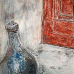 Eckensteher, Mischtechnik auf Leinwand, 80 x 60