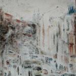Dresden, Alaunstraße, Mischtechnik auf Leinwand, 70 x 50