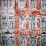 Dresden, Haus in der Großenhainer Sraße, Mischtechnik auf Leinwand, 60 x 50