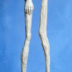 Begegnung, Pappel, 110 cm, mit Sockel
