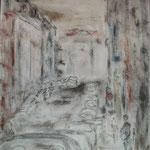 Dresden, Louisenstraße, Mischtechnik auf Leinwand, 70 x 50