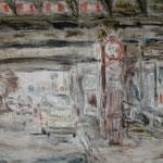 Dresden, Lößnitzstraße, Mischtechnik auf Leinwand, 60 x 80