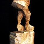 Die Joggerin, 78 cm mit Sockel, Götterbaum