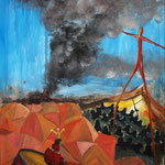 Macht - los, 151 x 100 cm, Acryl auf Leinwand, 2015