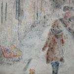 o.T., Mischtechnik auf Leinwand, 70 x 50