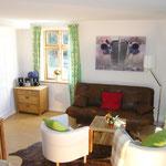 Das Wohn- und Esszimmer der Ferienwohnung Möschl