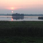 Sonnenuntergang am Lanker See