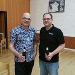 Jacob de Haan und unser Dirigent Stefan Grüner