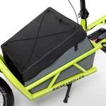 Riese und Müller Lasten e-Bike, e-Cargobike Load Zubehör und Ausstattungsoptionen Transportbox
