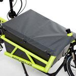 Riese und Müller Lasten e-Bike, e-Cargobike Load Zubehör und Ausstattungsoptionen Gepäckbox mit Plane geschlossen